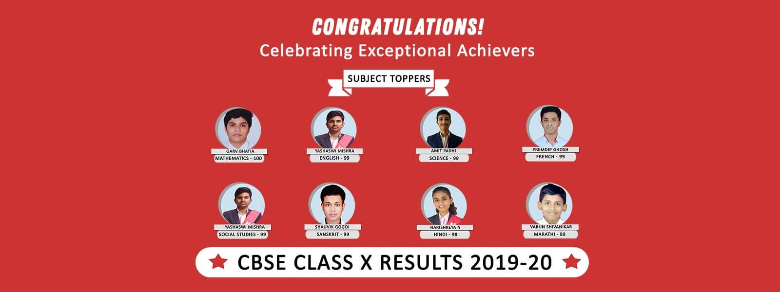 CBSE Class 10 Subject Toppers